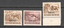 Indonesia - Riau Lingga 1957 Mi 23-25 MNH - Indonesia