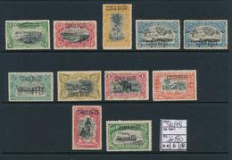 BELGIAN CONGO 1909 ISSUE COB 40/49 LH - Belgisch-Kongo