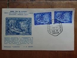 ARGENTINA - F.D.C. 50° Anniversario Corvetta Uruguay In Antartico + Spese Postali - FDC