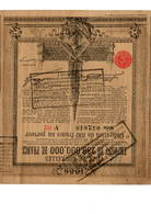 Belge/Belgie - Ville De Bruxelles - Obligation De 100 Francs - 1886 - Aandelen