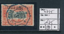 BELGIAN CONGO 1909 ISSUE COB 37L5 USED - Belgisch-Kongo