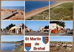 50 / SAINT MARTIN DE BRÉHAL - Blason, Plages, Commerces... (multivues Années 70) St - Brehal