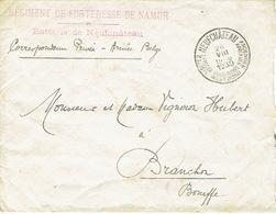 Armée Belge - Enveloppe En Franchise - Cachet Du REGIMENT DE FORTERESSE DE NAMUR Batterie De NEUFCHATEAU - Weltkrieg 1939-45