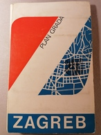 Old Vintage Beauiful City Map Of Zagreb With List Of All Streets And Other Tourism Turist  '60./70's - Sonstige