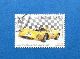 1996 BELGIO BELGIE BELGIQUE FRANCOBOLLO USATO STAMP USED AUTO CAR FERRARI 16 - Gebraucht