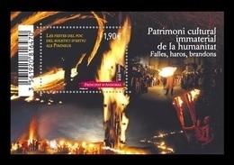 Andorra (FR) 2018 Mih. 835 (Bl.15) UNESCO World Heritage. Fire Festivals Midsummer MNH ** - Ungebraucht