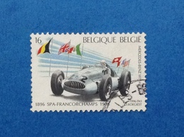 1996 BELGIO BELGIE BELGIQUE FRANCOBOLLO USATO STAMP USED AUTO CAR MERCEDES BENZ W154 - Gebraucht