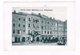 A-4130   BRAUNAU Am INN : Hotel Post ( With Swastika-Fähne ) - Braunau