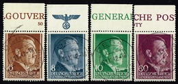 Generalgouvernement 1941,Michel# 72, 73, 74 + 79 O Mit Oberrand - Ocupación 1938 – 45