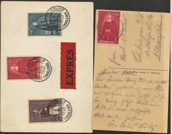 2 Kaarten Met De Zegels N° 302/304 - Briefe U. Dokumente