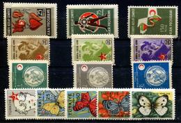 TURKEY 1957-58 - Charity Stamps Mi 233-246 (4 Sets) MNH (postfrisch) VF - 1921-... Republik