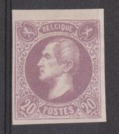 Proef 1864 Leopold 1ste. Ontwerp A. Fisch - Type 2  Nr. 568 / 20 C. Wit Papier / Catalogus Grubben. - Probe- Und Nachdrucke