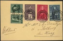 Aandenken Der Wereldtentoonstelling ANTWERPEN 1930 Met N°299/300 +302/304 Met Tentoonstelling Stempel 5 X 1930 - Briefe U. Dokumente