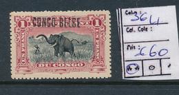 BELGIAN CONGO 1909 ISSUE COB 36L1 MNH - Belgisch-Kongo