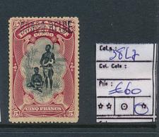 BELGIAN CONGO 1909 ISSUE COB 38L7 LH - 1894-1923 Mols: Postfris