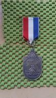 """Medaille :Netherlands  -  Legerplaats Tocht """"T Harde  / Vintage Medal - Walking Association - Nederland"""