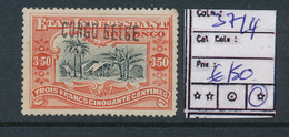 BELGIAN CONGO COB 39L4 LH - Congo Belga