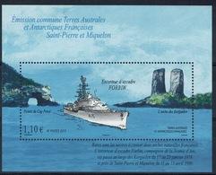 French Antarctic (FSAT), Ship FORBIN, 2011, MNH VF souvenir Sheet Of 1 - Terre Australi E Antartiche Francesi (TAAF)