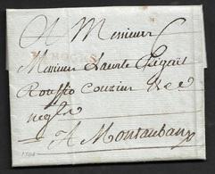 1784 LAC - LIMOGES 33mm A MONTAUBAN - Marcophilie (Lettres)