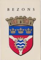 Autocollant Blason écusson Ville De BEZONS 8,5 X 12 ,5 CM - Stickers