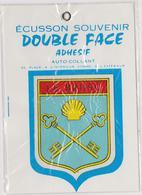 Autocollant Blason écusson Double Face Ville De LE BRUSC Encore Sous Emballage Plastique 6 X 7 CM ..13 X 10 Cm Hors Tout - Stickers