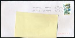 """2018 : Timbre Postal Adhésif """"Arbres, Frêne élévé"""" Seul Sur Lettre - Marcophilie (Lettres)"""