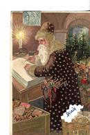 CPA Gauffrée Bonne Année Père Noel Ou Saint Nicolas - Nouvel An