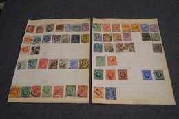 RARE , Collection , 56 Timbres Anciens, Grande Bretagne,de 1841 à 1935 ,collector,petites Charnières - Grande-Bretagne