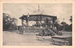 INDIA - CALCUTTA - BAND STAND, EDEN GARDENS ~ AN OLD POSTCARD #99606 - India