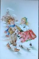 (2061) Een Dansend Meisje Met Rode Rok - Autres Illustrateurs