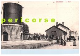89  Chablis  La Gare Groupe De Personnes Sur Le Quai - Chablis