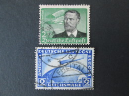 ALLEMAGNE Lot De 2 Timbres POSTE AERIENNE 1928 - 1934 GERMANY Air Post Stamps - Luftpost
