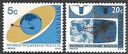 Australia 1968  Sc#431-2  5c & 20c Satelites  MNH  2016 Scott Value $2.75 - Neufs