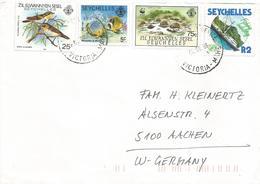 Seychelles 1988 Victoria WWF Aldabra Tortoise White-eye Sren Fishing Cover - W.W.F.