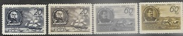 Russia  1947   Sc#1094-7  Geographical Society Set  MH  2016 Scott Value $30.50 - 1923-1991 USSR