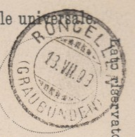 GR    RONGELLEN  / TOLLER UND GUTER STEMPEL - Briefe U. Dokumente