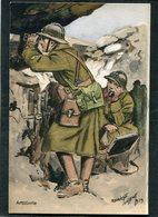 CPA - Illustration Maurice Toussaint - Artillerie Dans Les Tranchées - Guerre 1914-18