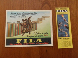 SEGNALIBRO   FILA  PESCE VIPERA + CARTOLINA  FILA PASTELLI GIOTTO - Bookmarks