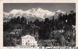 KANCHENJUNGA - VIEW FROM COMMERCIAL ROW ~ AN OLD REAL PHOTO POSTCARD #99861 - India