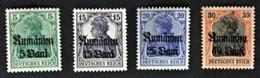 1918 Rumänien : Germania Mit Aufdruck  Mi. **) 8a, 10, 11b, 12 - Occupation 1914-18