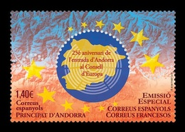 Andorra (ES) 2019 Mih. 488 Membership In The Council Of Europe (joint Issue Andorra (ES)-Andorra (FR)) MNH ** - Spanish Andorra