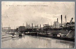 Old Postcard,France,LA BASSÉE,Bassin De Canal,Usines D' Isbergues, Feldpost 1915 - Autres Communes