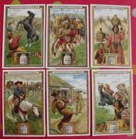 6 Chromo Liebig. Au Far-west. 1908. S 925. Chromos. édition Française - Liebig