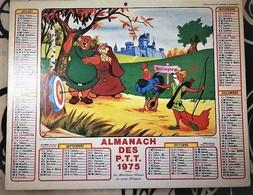 Calendrier Double - Almanach Disney: 75.Paris 1975  Plan Paris,région,métro,RER - Tamaño Grande : 1971-80