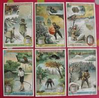 6 Chromo Liebig. Chasseurs De Fourrures. 1907. S 918. Chromos. édition Française - Liebig