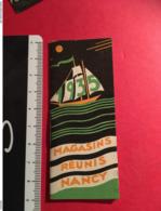 Mini Calendrier Agenda  Bateau à Voile Publicitaire De La Marque Magasins Réunis à Nancy Lorraine  Année 1935, éd. Paris - Calendriers