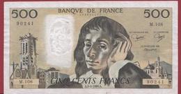"""500 Francs """"Pascal"""" Du 03/04/1980.A----VF/SUP---ALPH.M.108 - 1962-1997 ''Francs''"""