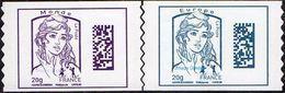 France Autoadhésif N° 1176 Et 1177 ** Marianne De Ciappa Et Kawena Datamatrix Europe Et Monde (PRO) - Adhesive Stamps