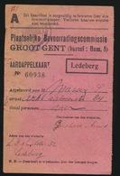 AARDAPPELKAART  GROOT GENT ( LEDEBERG ) BUREEL HAM 8  - 2 SCANS - 1914-18