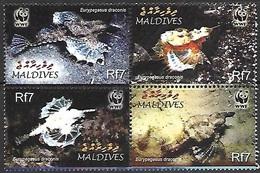 Maldive Islands   2004  Sc#2839  WWF Fish Set MNH  2016 Scott Value $4.50 - Maldives (1965-...)